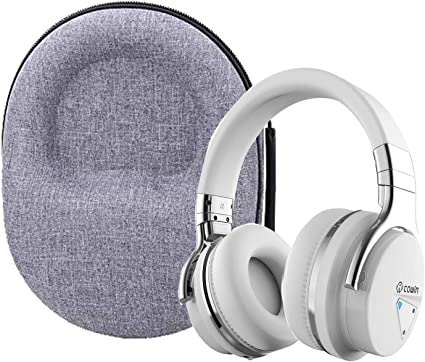 Blue Headphone Hard Case for COWIN E7 Active Noise Cancelling Bluetooth Headphones by Khanka