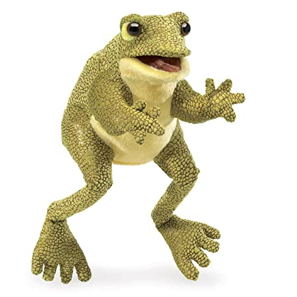 Amazon Folkmanis Funny Frog Hand Puppet Toys Games