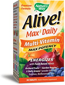 Nature's Way Alive! Max Potency Daily Multivitamin - 90 Tablets