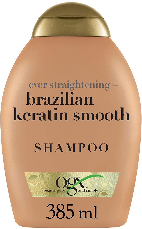 OGX - Champú Keratina Brasileña con una combinación exótica de ingredientes exclusiva para restaurar el cabello, 385 ml