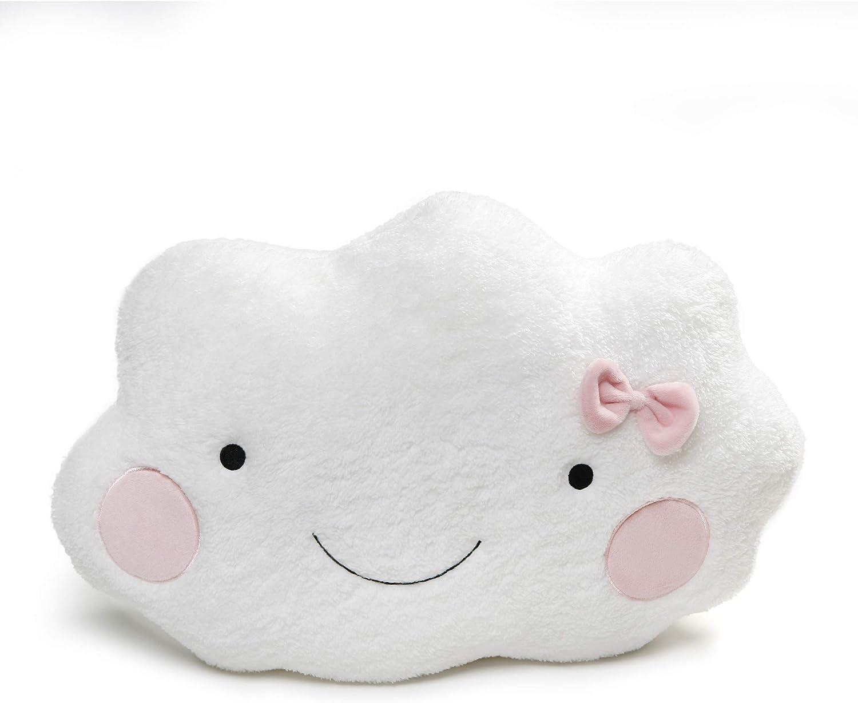"GUND Cloud Pillow Stuffed Animal Plush, White and Pink, 20"""