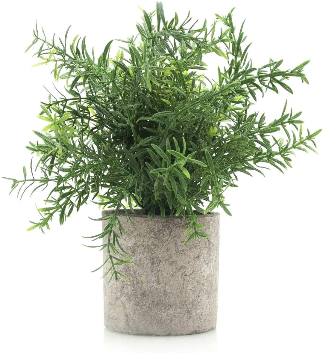 Velener Mini Potted Plastic Fake Green Plant for Home Decor (Bamboo Leaves) -