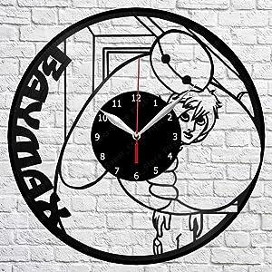 """Vinyl Clock - Baymax - Handmade Wall Clock - Vinyl Art Home Decor - Unique Vinyl Record Wall Clock - Exclusive Custom Vinyl Record Clock - Original Gift Idea - Black Clock 12"""""""
