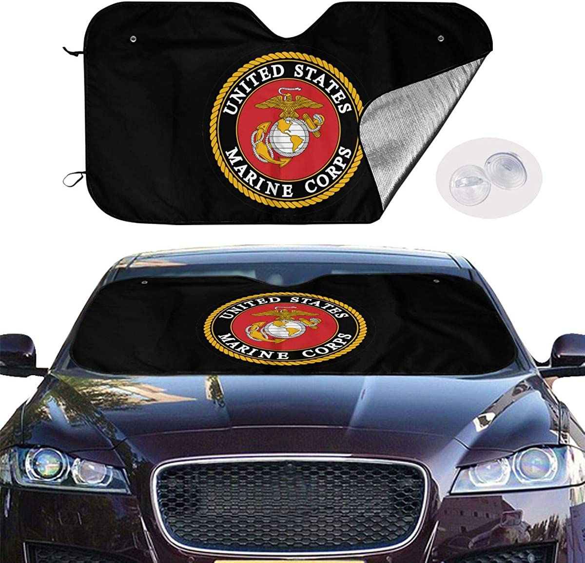 Others USMC Marine Corps Logo Car Windshield Fit Car Sunshade-Keep Your Vehicle Cool