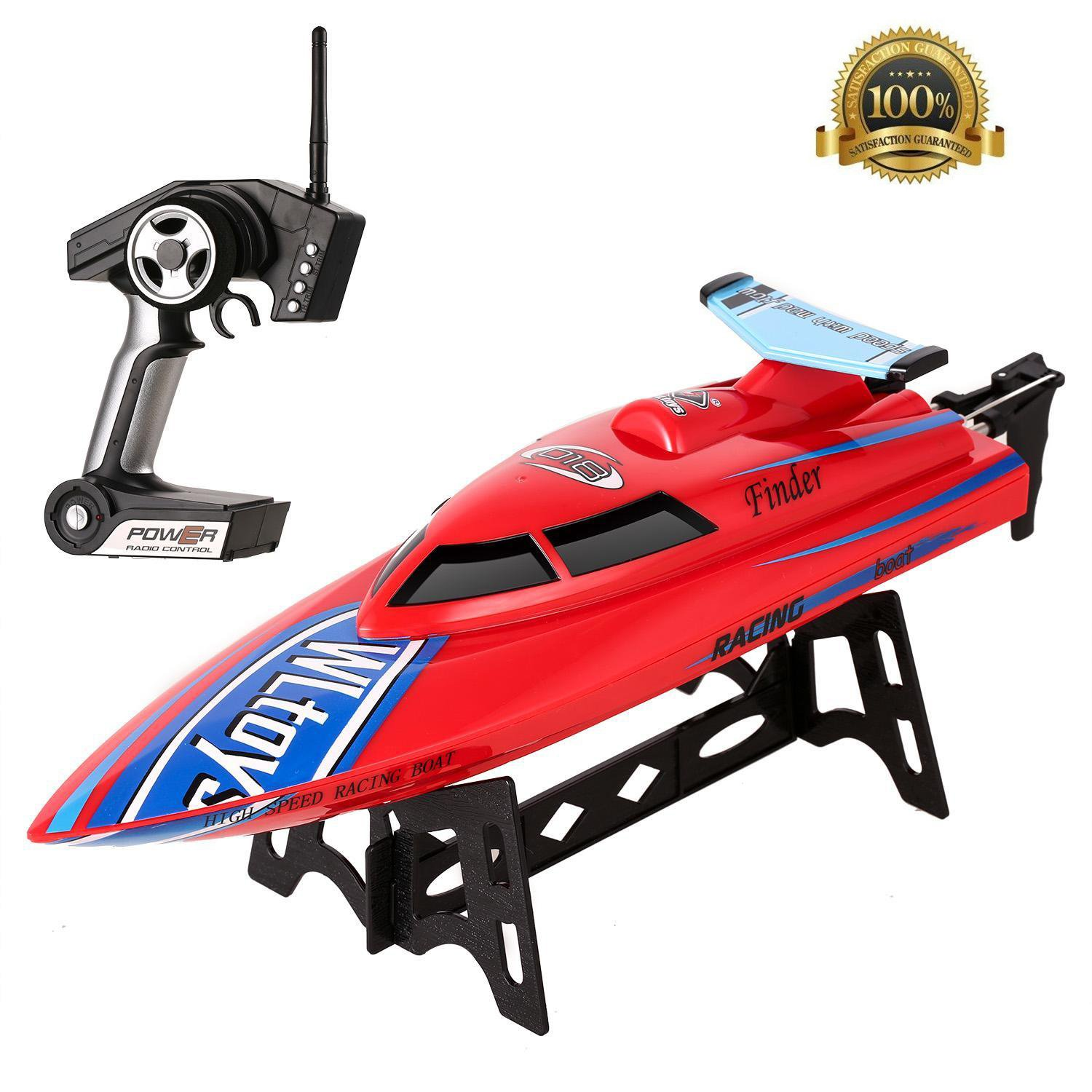RCボート、2.4 G Remote Controlled Electric Racing Boat with 24 km / h High Speed forプール湖 レッド 5031 B077JY7W72 レッド レッド
