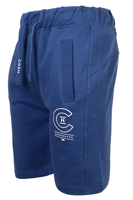 Crosshatch - Pantalones cortos para correr con forro polar para hombre