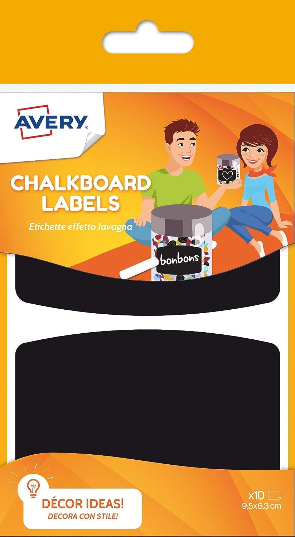 Avery España ARDO10-UK-5 Bolsas de Etiquetas adhsievas Pizarra, medida 95x63mm Total 50 etiquetas: Amazon.es: Oficina y papelería