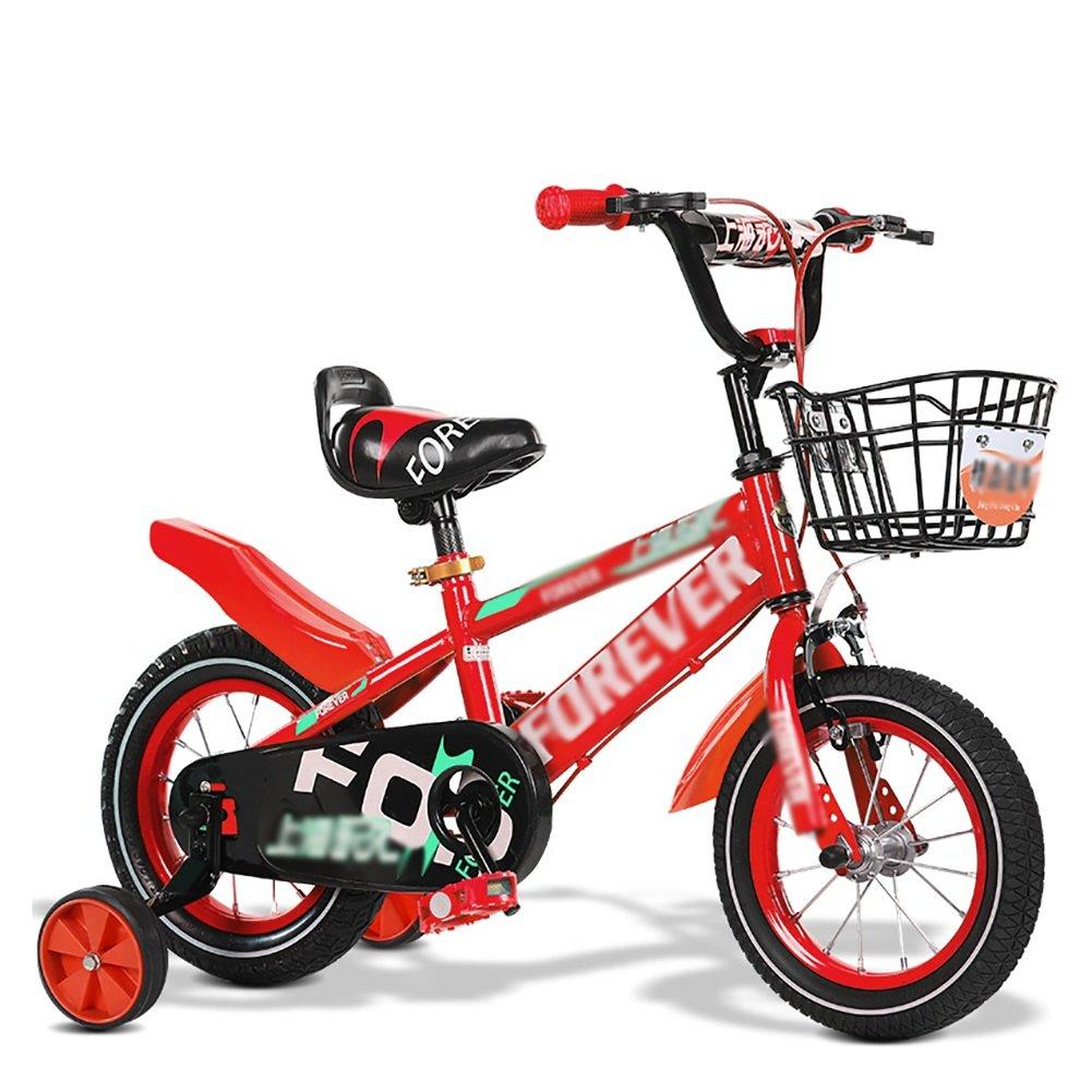 子供用自転車子供用自転車2歳から11歳12 14 16 18 20インチブルーレッドイエロー調節可能な折りたたみ式 B07DV1CBYL 16 inch|赤 赤 16 inch