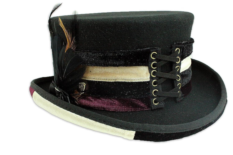 Velvet Victorian Steampunk Top Hat