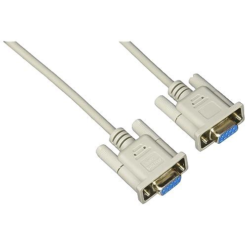 StarTech.com SCNM9FF - Cable de módem nulo cruzado, 3 m, gris