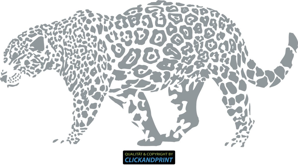 CLICKANDPRINT Aufkleber » Leopard, 150x74,4cm, Türkis • Wandtattoo   Wandaufkleber   Wandsticker   Wanddeko   Vinyl B073X6ZTCP Wandtattoos & Wandbilder