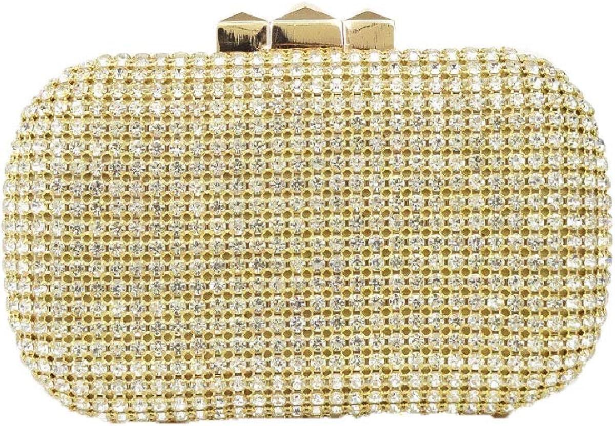 Hearty Trendy Multi Color Rhinestone Evening Clutch Bag