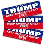 ANLEY 9 X 3 inch Trump 2020 Decal - Car and Truck Reflective Bumper Stickers - 2020 United States Presidential Election (3 Pack)
