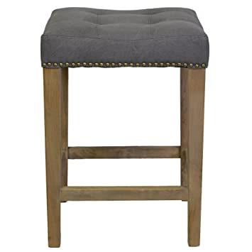 Design Tree Home Ash Counter Stool In Frost Grey