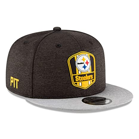49d1fc82a Image Unavailable. Image not available for. Color  New Era Pittsburgh  Steelers 2018 NFL Sideline Road Official 9FIFTY Snapback Hat