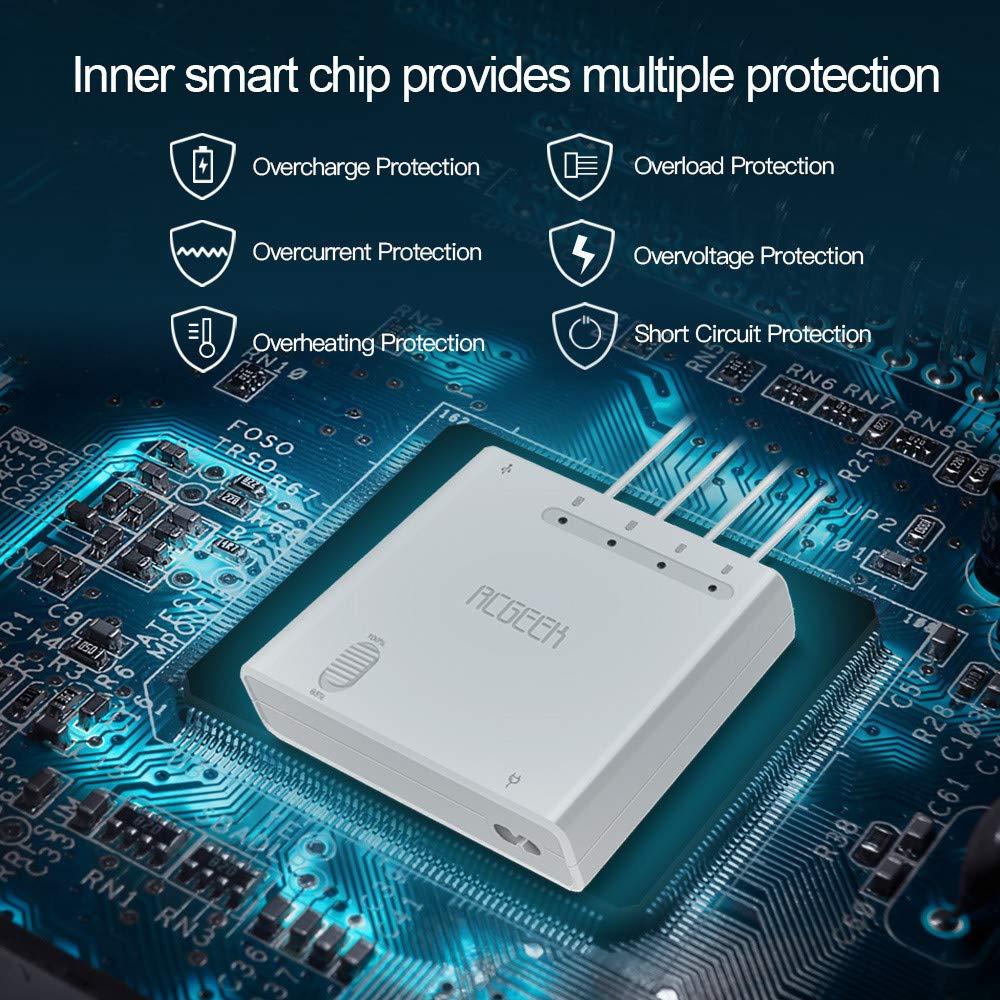 QHJ Für DJI Mavic 2 Pro Zoom 6in1 Schneller intelligenter, intelligenter Multi Akku Ladehub (Laden von 4 Akkus und 2 USB Ports gleichzeitig)