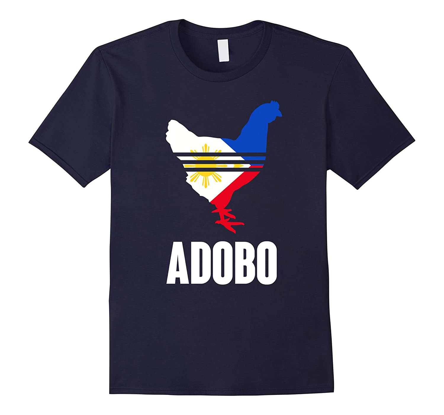 Chicken adobo shirt funny philippines pinoy flag-BN