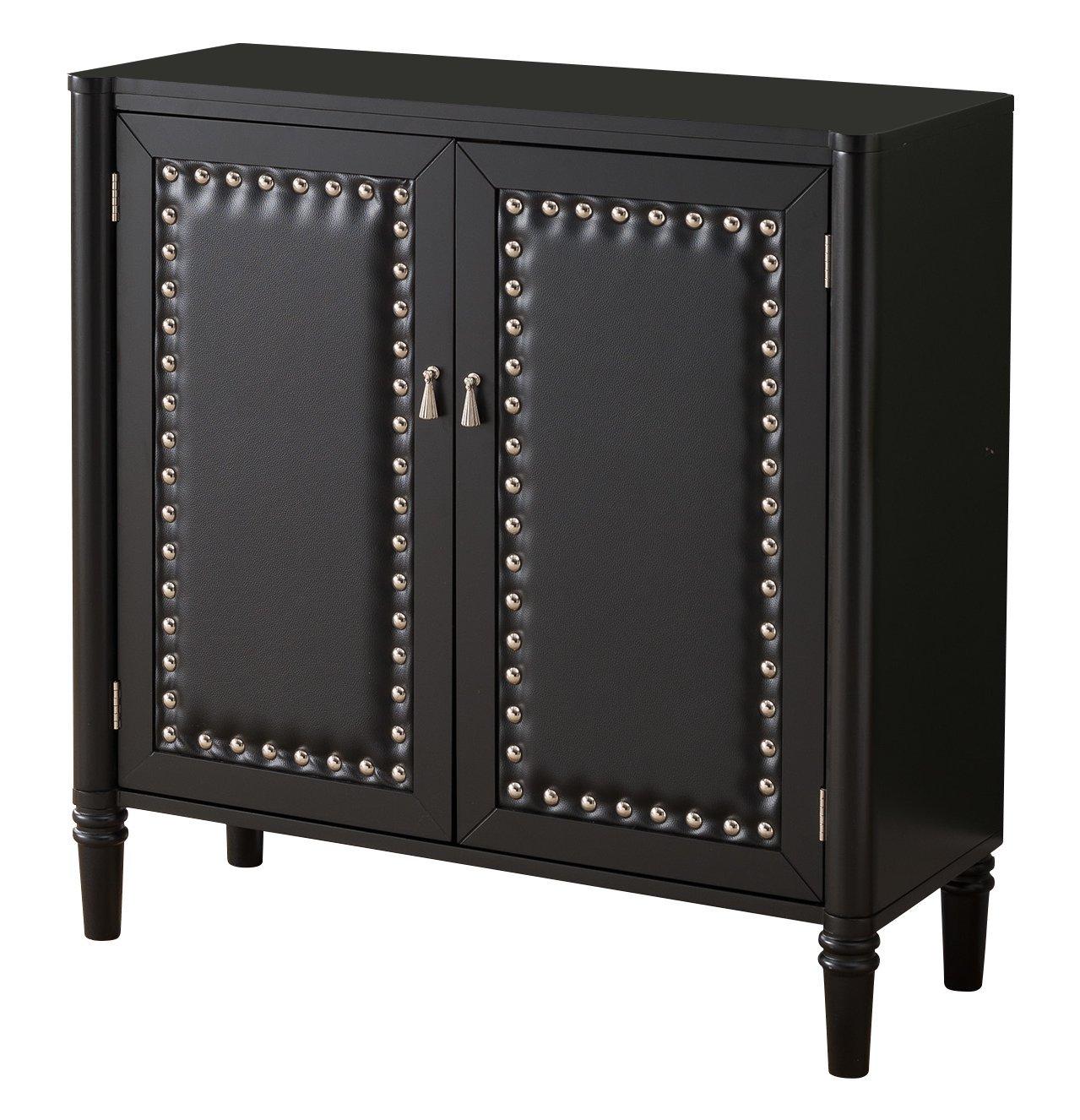 Kings Brand Furniture 2 Door Entryway Console Table Accent Cabinet, Black by Kings Brand Furniture (Image #4)