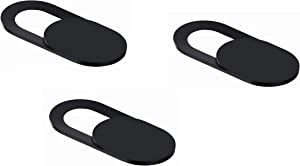 Webcam Cover Ultra Thin Slide for MacBook, MacBook Air, iMac, Chromebook, Laptops, HP, Dell, Lenovo, iPhone, Samsung Galaxy, PC, etc. [3-Pack]. Protect Your Privacy!