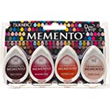 Tsukineko 4-Pack Assortment Memento Dew Drops Fade-Resistant Ink, Arizona Canyons