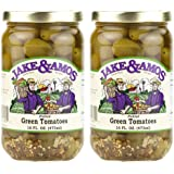 Jake & Amos - Pickled Green Tomatoes / 2 - 16 Oz. Jars