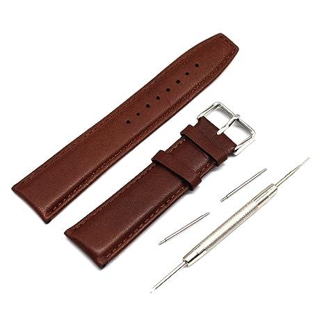 Banda Fiimi de piel auténtica para reloj de 22 mm con ...