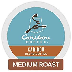 Caribou Coffee Keurig Single-Serve K-Cup Pods, Caribou Blend Medium Roast Coffee, 24 Count