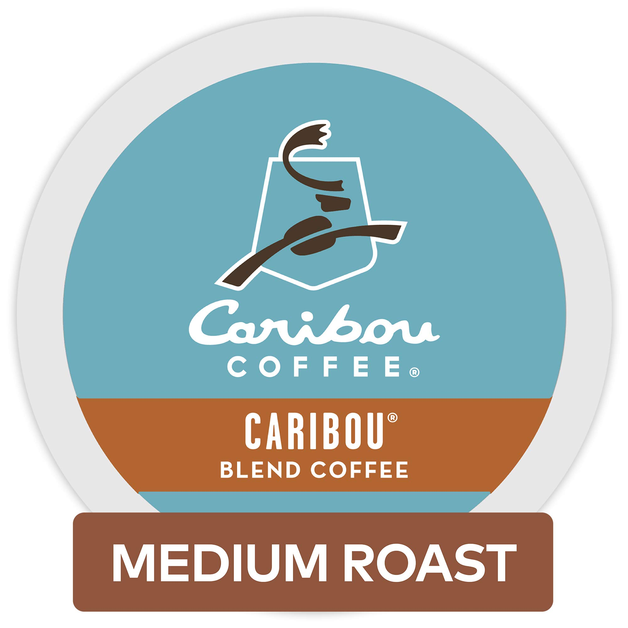 Caribou Coffee Caribou Blend, Single Serve Coffee K-Cup Pod, Medium Roast, 12 count, Pack of 6 by Caribou Coffee (Image #1)