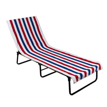 Brilliant J M Home Fashions 70338A Stripe Beach Towel With Fitted Top Pocket Soft Absorbent And Fast Drying For Covering Pool Chairs While Swimming Short Links Chair Design For Home Short Linksinfo