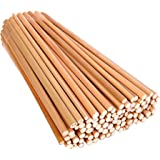 "Vardhman Bamboo Sticks, 100 Pcs , 9"" Length Unfinished Round Sticks For Diy Model Building Craft"