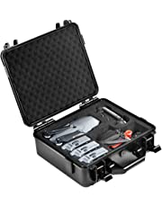 Lekufee Carrying Case Compatible for DJI Mavic Pro Platinum,Hard Waterproof Case Holds 4 Batteries,Remote Controller and More Accessories(Not Fit for Mavic 2 Pro)