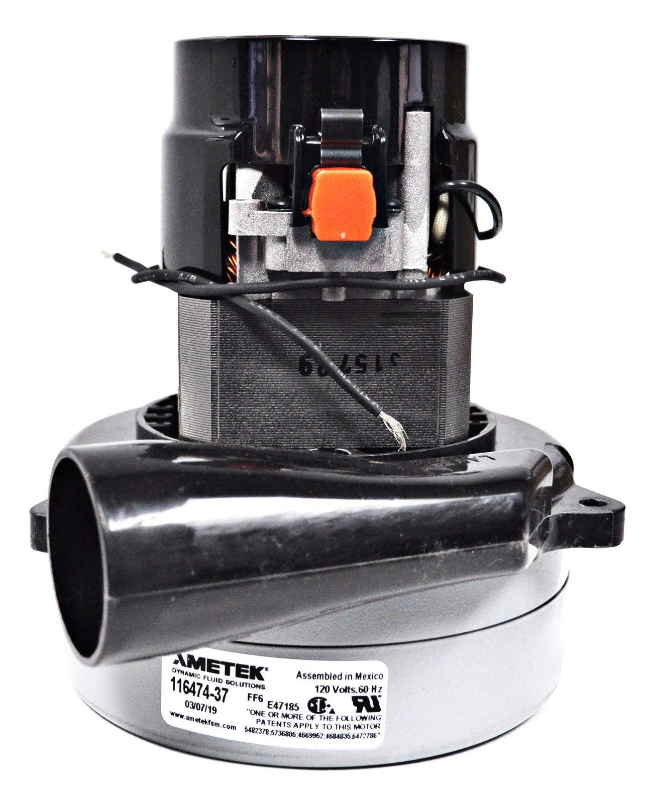 Ametek Lamb 5.7 Inch 120 Volt 2 Stage B/B Tangential Bypass Vacuum Motor 116474-37 by Ametek
