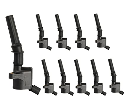 complete pack of 10 ignition coils for ford super duty e-350 e-450