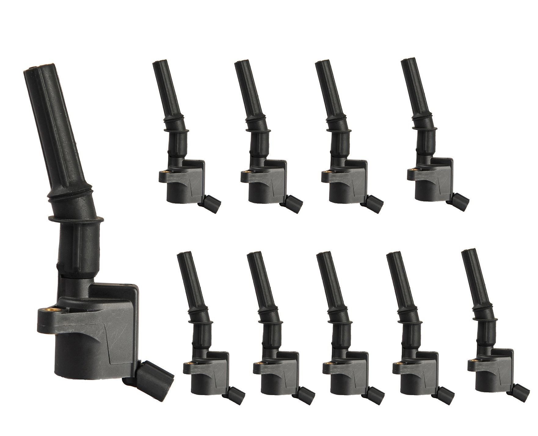 Complete Pack of 10 Ignition Coils for Ford Super Duty E-350 E-450 Excursion 6.8L V10 fit 3W7Z12029AA 3W7Z-12029-AA 1L2Z-12029-AA