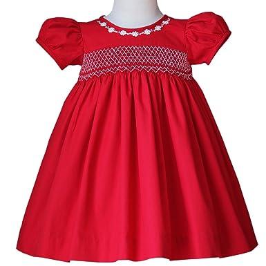 carouselwear sofia baby toddler girls smocked red christmas dress - Girls Red Christmas Dress