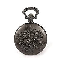 Flower Series Steampunk Quartz Pocket Watch Fob Retro Half Hunter Scale Pocket Watches for Women