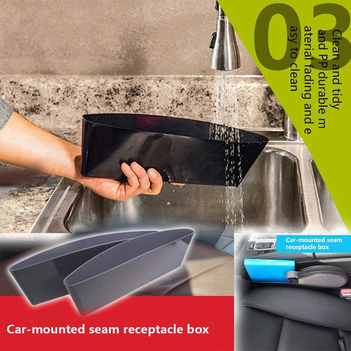 Black Car Storage Box Gap Filler Plastic Console Pocket Organizer Interior Accessories Car Seat Side Drop Caddy Catcher Black
