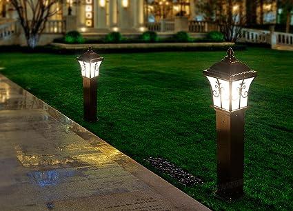 fj-e27 6500 K 350LM LED Jardín Lámpara Faro exterior resistente al agua Jardín Césped lámpara Villa de pared horizontal de iluminación: Amazon.es: Iluminación