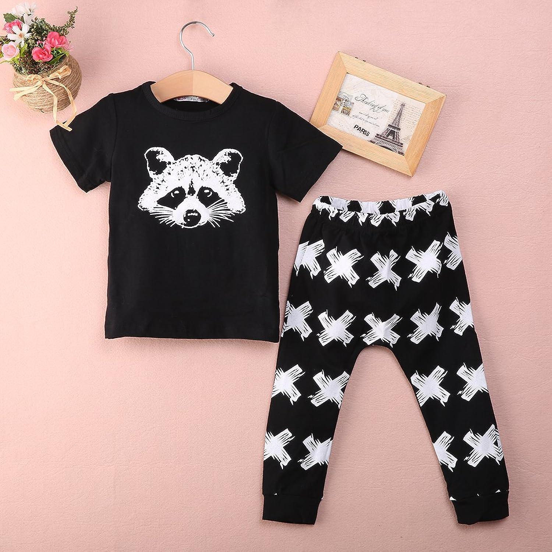 Amazon Newborn Fox Baby Girls Boys Tops T shirt pants Leggings