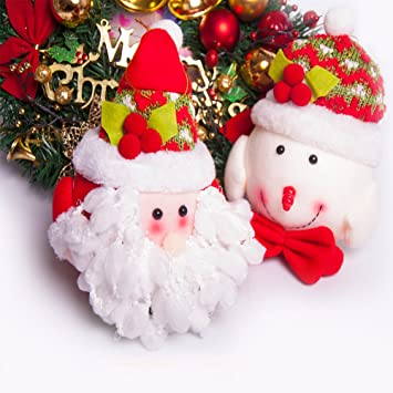 suptend christmas dolls santa snowman2 pack 63 in christmas decorations ornament your home - Santa Snowman 2