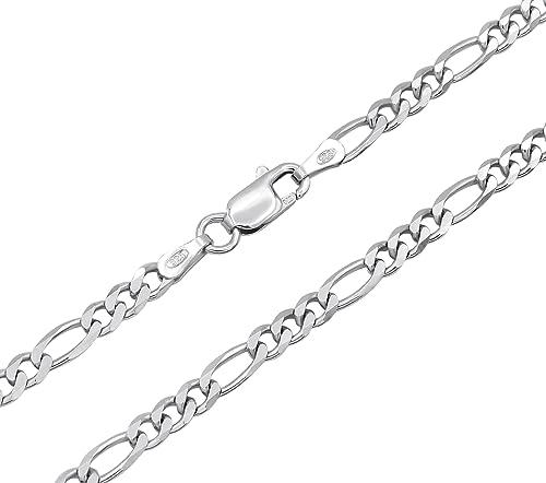 Figarokette Silber 4,5mm 50cm 925 Silberkette