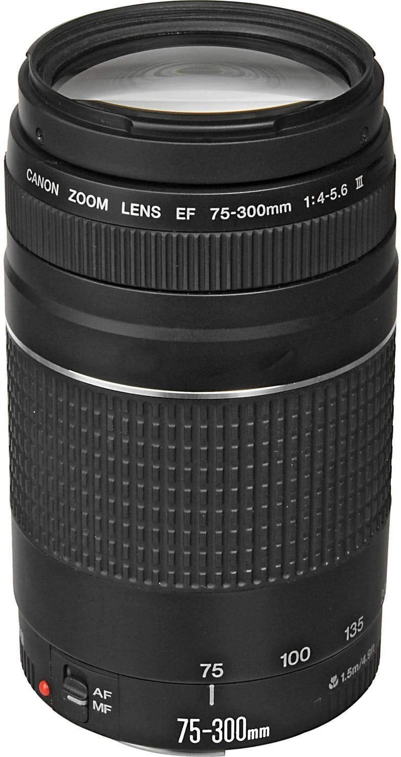 (Renewed) Canon EF 75-300mm f/4-5.6 III Telephoto Zoom Lens for Canon SLR Cameras