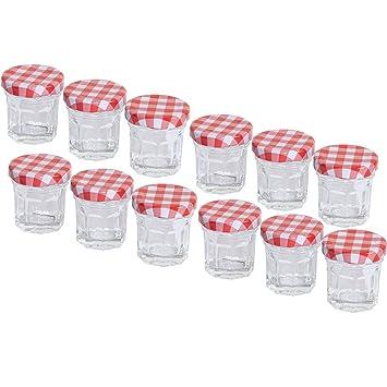 20 Sturzglaser 30ml Marmeladenglaser Einmachglaser Einweckglaser Rot