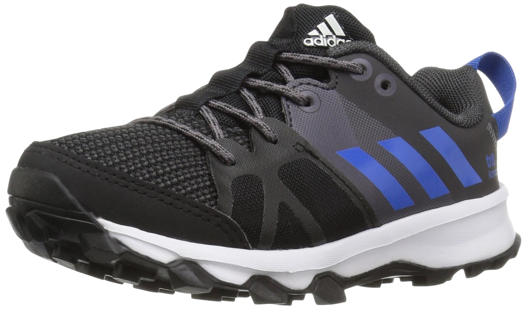 adidas Performance Boys' Kanadia 8 k Trail Runner, Black/Satellite/Grey, 2.5 M US Little Kid
