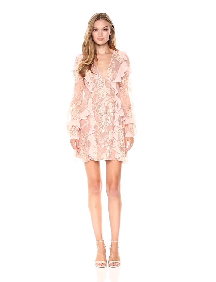 702c5aad242 Amazon.com  For Love   Lemons Women s Bumble Long Sleeve Dress  Clothing