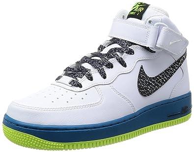 half off e7b9b f54af Nike Air Force 1 MID 07 Schuhe white-black-green abyss-volt -
