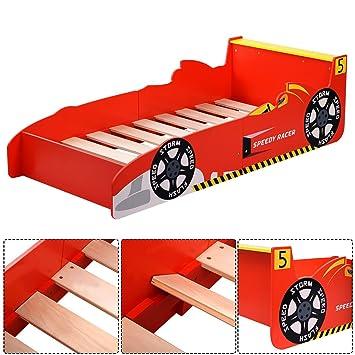 Amazoncom Kids Race Car Bed Toddler Bed Boys Child Furniture