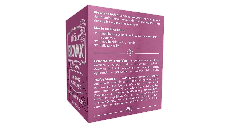 Amazon.com : Biovax Luxurious Hair Masque (Orchid & White Truffles) Damaged Hair Treatment : Beauty