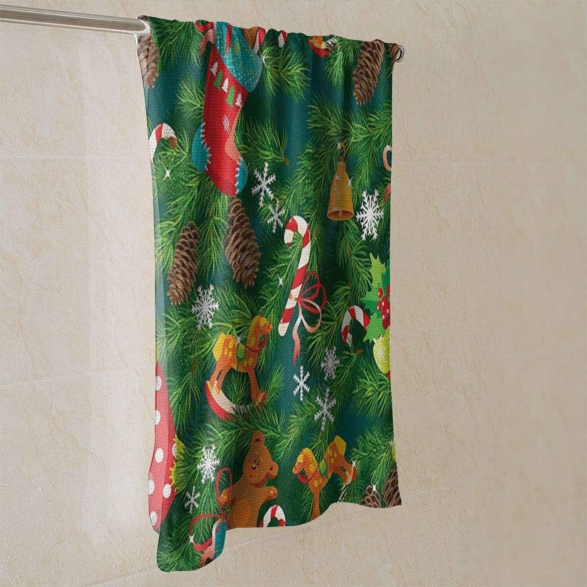 torchon pour Le s/échage Le Nettoyage la Cuisson 40x70cm Accessoires de No/ël Bas torchons de Cuisine lavables en Coton