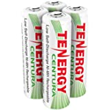 Tenergy Centura AA Low Self-Discharge LSD NiMH Rechargeable Batteries, 1 Card 4xAA